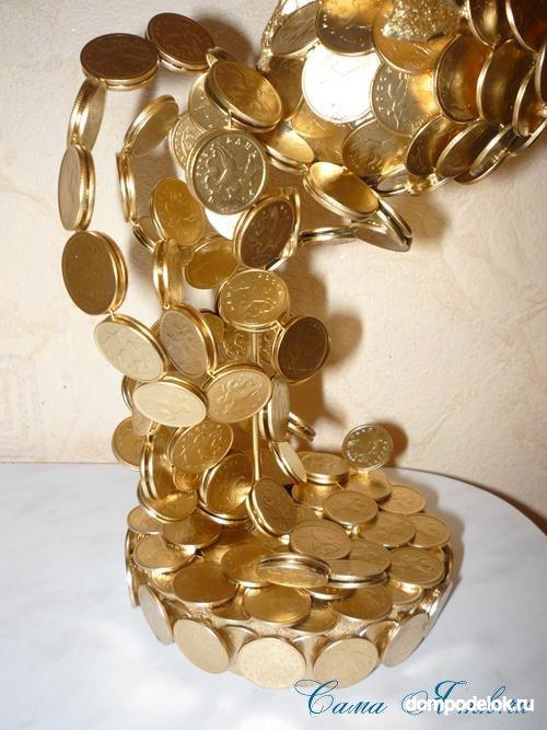 Золотая рыбка из монет 120