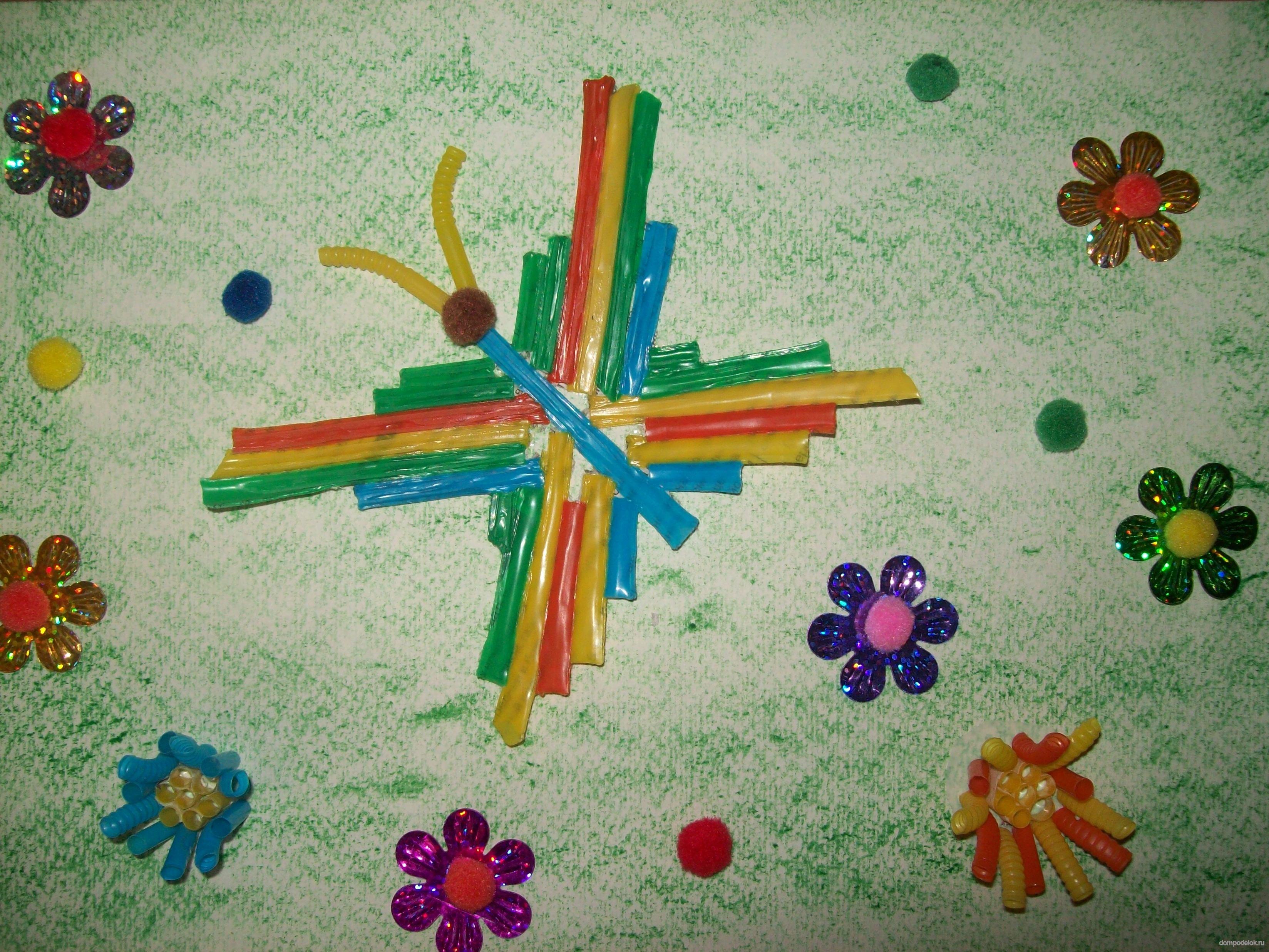 Поделки из разноцветных трубочек