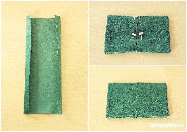 Как делать галстук бабочку из ткани