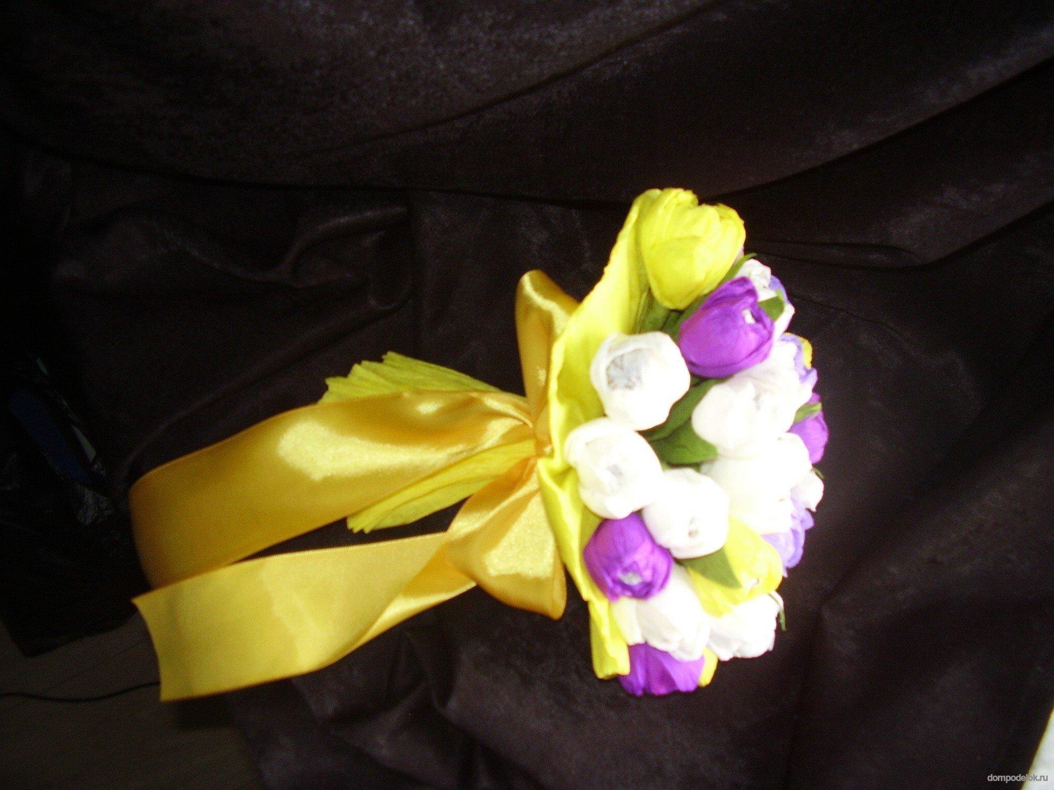 Букет ромашек из конфет своими руками мастер класс 541