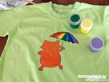 Рисунок на футболке на День защиты детей