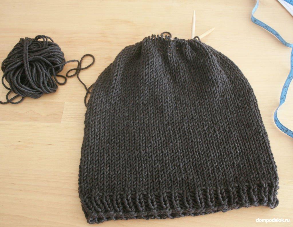Вязать шапку после резинки