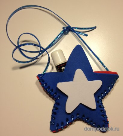 Ожерелье в форме звезды из фетра